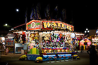 View of a water shooting game stand at the North Carolina State Fair in Raleigh, NC, United States, 16 October 2008.