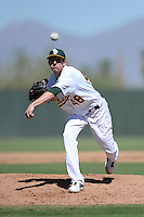 Oakland Athletics pitcher Jeff Urlaub (48) during an instructional league game against the San Francisco Giants on September 27, 2013 at Papago Park Baseball Complex in Phoenix, Arizona.  (Mike Janes/Four Seam Images)