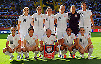 Starting Eleven of team USA during the FIFA Women's World Cup at the FIFA Stadium in Dresden, Germany on June 28th, 2011.