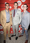 Josh Segarra, Derek Klena & Nick Blaemire .attending the after Party for Off-Broadway Opening Night Performance of Second Stage Theatre's 'Dogfight' at HB Burger in New York City.