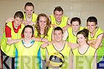Listowel basketballers at the KDYS county finals in Killarney on Sunday front row l-r:Sarah Kerins, Cian Dore, Caoimhe Dowling. Joe Grimes, Gene Flynn, Caroline Buckley, Stephen Kelly, Niamh Duffy and Liam O'Connor..............