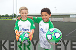 David Fitzgerald and Michael Everitt at the FAI soccer camp on Friday at Mounthawk Park.