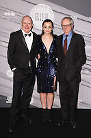LONDON, UK. December 4, 2016: Paul Laverty, Hayley Squires &amp; Ken Loach at the British Independent Film Awards 2016 at Old Billingsgate, London.<br /> Picture: Steve Vas/Featureflash/SilverHub 0208 004 5359/ 07711 972644 Editors@silverhubmedia.com