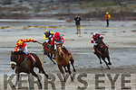 Action on the beach at the Ballyheigue Races on Saturday.