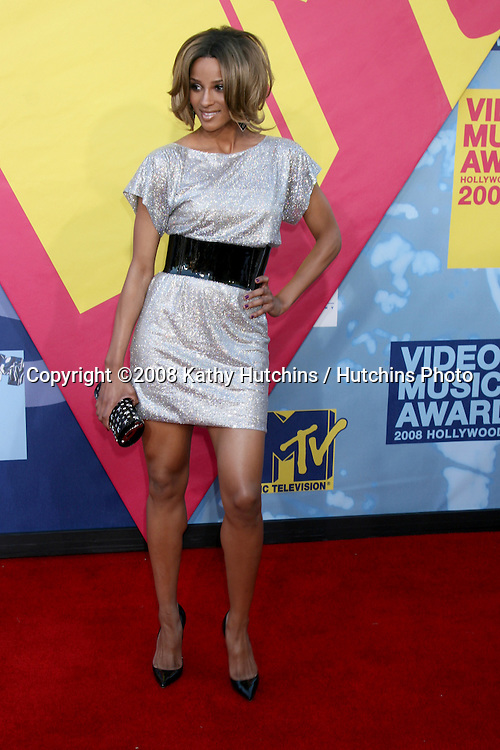 Ciara arriving at  the Video Music Awards on MTV at Paramount Studios, in Los Angeles, CA on.September 7, 2008.©2008 Kathy Hutchins / Hutchins Photo....