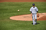 Masahiro Tanaka (Yankees), SEPTEMBER 13, 2015 - MLB : Masahiro Tanaka of the New York Yankees walks back to the dugout after the top of the second inning during the Major League Baseball game against the Toronto Blue Jays at Yankee Stadium in the Bronx, New York, United States. (Photo by Hiroaki Yamaguchi/AFLO)
