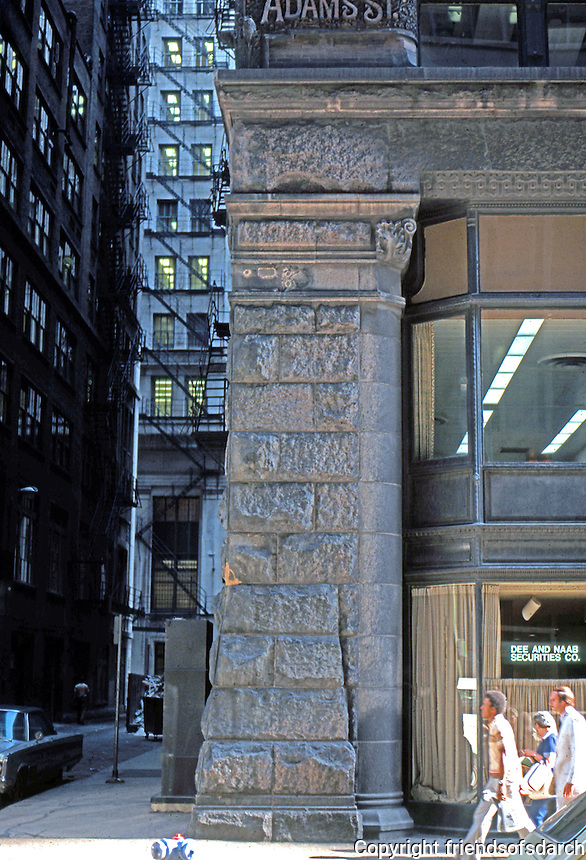 Burnham & Root: Rookery Building, 1886. Adams St.  Photo '76.