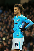 3rd December 2017, Etihad Stadium, Manchester, England; EPL Premier League football, Manchester City versus West Ham United; Leroy Sane of Manchester City