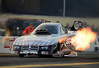 Oct. 5, 2012; Mohnton, PA, USA: NHRA funny car driver Jack Beckman during qualifying for the Auto Plus Nationals at Maple Grove Raceway. Mandatory Credit: Mark J. Rebilas-