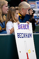 CARSON, CA – April 2, 2011: A little David Beckham fan during the match between LA Galaxy and Philadelphia Union at the Home Depot Center, March 26, 2011 in Carson, California. Final score LA Galaxy 1, Philadelphia Union 0.