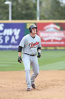 Kevin Cron (40) of the Visalia Rawhide runs the bases during a game against the Rancho Cucamonga Quakes at LoanMart Field on May 6, 2015 in Rancho Cucamonga, California. Visalia defeated Rancho Cucamonga, 7-2. (Larry Goren/Four Seam Images)