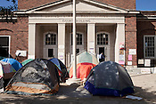 October 24, 2011. Chapel Hill, NC.. Photographs of the Occupy Chapel Hill camp, located at the old Franklin Street post office. Supporters have been camped there for over a week in solidarity with the Occupy Wall Street movement.