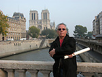 Guy Buffet in front of Notre Dame, Paris.