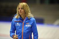 SCHAATSEN: HEERENVEEN: 19-06-2014, IJsstadion Thialf, Zomerijs training, Marianne Timmer coach Team Continu, ©foto Martin de Jong