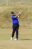 Mark Foster (ENG) plays his 2nd shot on the 6th hole during Friday's Round 2 of the 2018 Dubai Duty Free Irish Open, held at Ballyliffin Golf Club, Ireland. 6th July 2018.<br /> Picture: Eoin Clarke | Golffile<br /> <br /> <br /> All photos usage must carry mandatory copyright credit (&copy; Golffile | Eoin Clarke)
