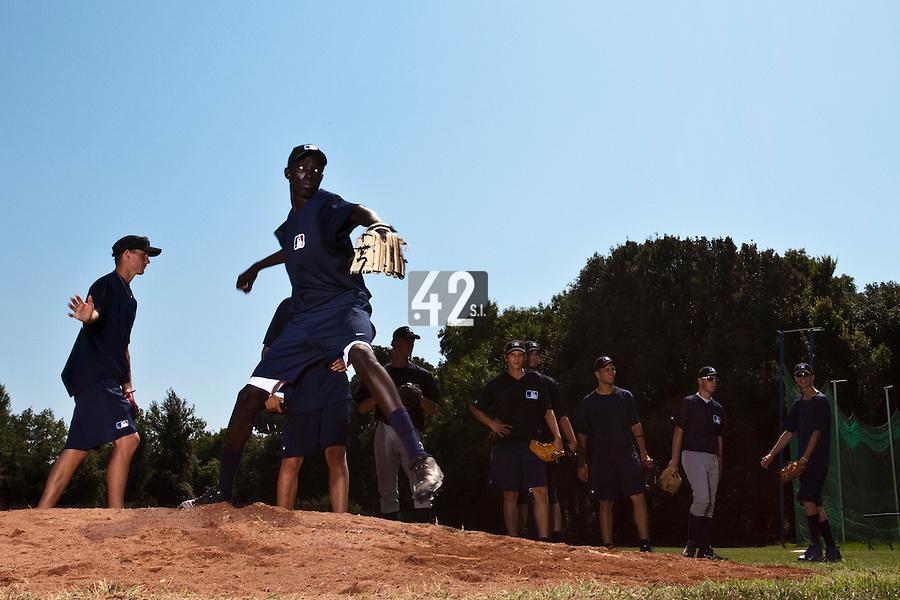 Baseball - MLB Academy - Tirrenia (Italy) - 19/08/2009 - Adei Benard (Uganda)