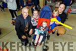 Tony Wonder with the O'Flaherty family from Tralee enjoying their tricks and treats at the Manor West Retail Park's Halloween Family Fun Day on Saturday.<br />  <br /> L to r: Tony Wonder, Ann Marie, Darcy, Morgan Jr and Morgan Sr O'Flaherty.
