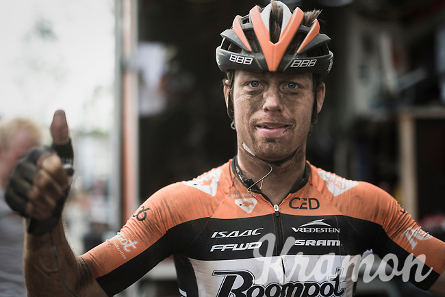 Raymond Kreder's (NED/Roompot - Oranje Peloton) post-race face & optimism<br /> <br /> 91th Schaal Sels 2016