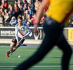 UTRECHT -   Nicky Leijs (Adam) tijdens  de hoofdklasse hockeywedstrijd mannen, Kampong-Amsterdam (4-3).  COPYRIGHT KOEN SUYK