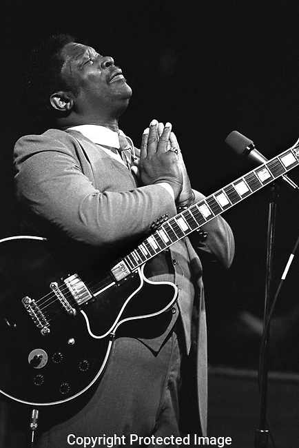 B.B. King, April 1, 1982, Great American Music Hall, San Francisco. Likely the best-known blues artist of all time acclaimed for his expressive singing and guitar playing.<br /> <br /> Rolling Stone magazine ranked him at #3 on its list of the &quot;100 greatest guitarists of all time.&quot; His innovative string-bending and vibrato techniques arguably influenced every electric blues guitarist who followed.