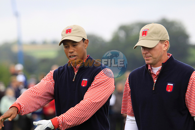 Tiger Woods practicing on Thursday at the 2010 Ryder Cup, Celtic Manor, Newport, Wales, Thursday 30th September 2010..(Picture Manus O'Reilly/www.golffile.ie)