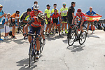 Vincenzo Nibali (ITA) Bahrain-Merida, Alberto Contador (ESP) Trek-Segafredo and race leader Chris Froome Team Sky on the final climb during Stage 14 of the 2017 La Vuelta, running 175km from &Eacute;cija to Sierra de La Pandera, Spain. 2nd September 2017.<br /> Picture: Unipublic/&copy;photogomezsport | Cyclefile<br /> <br /> <br /> All photos usage must carry mandatory copyright credit (&copy; Cyclefile | Unipublic/&copy;photogomezsport)