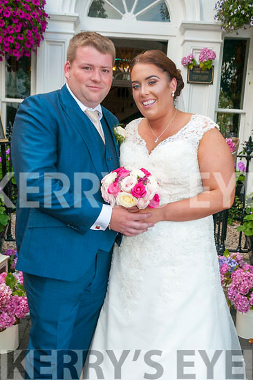 Kathleen Hussey, daughter of Jack & Eileen Hussy, Ballyduff & Brendan O'Keeffe, son of Brendan & Maureen O'Keeffe, Liselton who were married in St. Peter & Paul's Church, Ballyduff by Fr. Brendan Walsh on Saturday last. Best man was Sean O'Keeffe & the groomsmen were Michael & John Hussey. The bridesmaids were Marie O'Carroll & Theresa & Elizabeth Hussey. The flower girl was Ruby-Mai Halpin & the page boy was Aaron O'Carroll. the reception was held in the Listowel Arms Hotel.