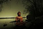 A Buddha by a lakeside