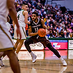 18 December 2018: St. Bonaventure University Bonnies Forward Courtney Stockard, a Senior from St. Louis, MO, in second-half action against the University of Vermont Catamounts at Patrick Gymnasium in Burlington, Vermont. The Catamounts defeated the Bonnies 83-76 in a double-overtime NCAA DI game. Mandatory Credit: Ed Wolfstein Photo *** RAW (NEF) Image File Available ***