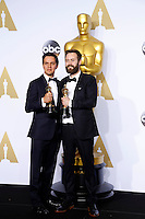 LOS ANGELES - FEB 28:  Shan Christopher Ogilvie, Benjamin Cleary at the 88th Annual Academy Awards - Press Room at the Dolby Theater on February 28, 2016 in Los Angeles, CA