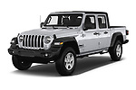 2020 JEEP Gladiator Sport-S 4 Door Pick-up Angular Front automotive stock photos of front three quarter view