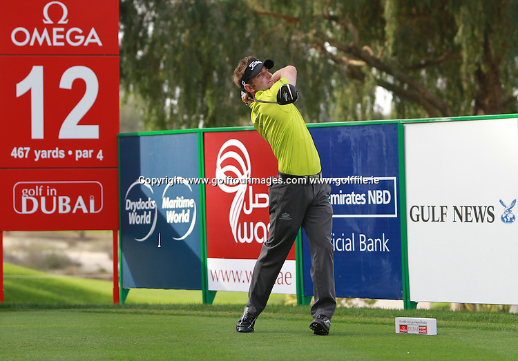 JBE Kruger (RSA) during the second round of the 2013 Omega Dubai Desert Classic being played over the Majlis Golf Course, Emirates Golf Course from 31st January to 3rd February 2013: Picture Stuart Adams www.golftourimages.com/www.golffile.ie:  1st February 2013