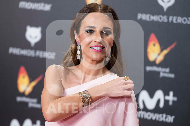 Paula Echevarria attends red carpet of Feroz Awards 2018 at Magarinos Complex in Madrid, Spain. January 22, 2018. (ALTERPHOTOS/Borja B.Hojas)