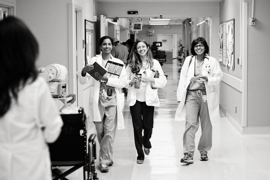 Left to right: name not known. Vanessa Rodriguez, medical student at UTMB. Payas Vasanth, MD, 3rd year resident.