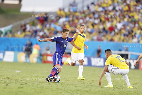 Toshihiro Aoyama (JPN), JUNE 24, 2014 - Football / Soccer : FIFA World Cup Brazil 2014 Group C match between Japan 1-4 Colombia at the Arena Pantanal in Cuiaba, Brazil. (Photo by AFLO)