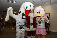 Pictured: during the Swansea City Christmas part at the Liberty Stadium in Swansea, Wales, UK. Thursday 05 December 2019