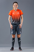 Pictured: Sarah Adams. 09 May 2018<br /> Re: Swansea City AFC studio photo-shoot at the Barn, in the Youth Academy facility in Swansea, Wales, UK.