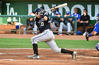 B.J. Lopez (20) of the Missoula Osprey at bat against the Ogden Raptors in Pioneer League action at Lindquist Field on August 4, 2014 in Ogden, Utah.  (Stephen Smith/Four Seam Images)