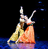 Shanghai Ballet <br /> Echoes of Eternity <br /> at the London Coliseum, London, Great Britain <br /> rehearsal <br /> 17th August 2016 <br /> based on the poem Song of Everlasting Sorrow <br /> choreography by Patrick de Bana <br /> <br /> QI Bingxue as Lady Yang <br /> WU Husheng as Emperor <br /> <br /> <br /> <br /> <br /> Photograph by Elliott Franks <br /> Image licensed to Elliott Franks Photography Services