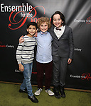 Shiv Ajay, Avey Noble and Peyton Lusk attends the Off-Broadway Opening Night party for 'Mary Shelley's Frankenstein' at the Green Room on December 27, 2017 in New York City.