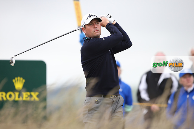 David Howell (ENG) during Round One of the 144th Open, played at the Old Course, St Andrews, Scotland. /16/07/2015/. Picture: Golffile | David Lloyd<br /> <br /> All photos usage must carry mandatory copyright credit (&copy; Golffile | David Lloyd)