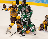 Ben Marshall (MN - 10), Gabe Guertler (MN - 27), Andrew Panzarella (North Dakota - 22), Colten St. Clair (North Dakota - 17), Adam Wilcox (MN - 32) - The University of Minnesota Golden Gophers defeated the University of North Dakota 2-1 on Thursday, April 10, 2014, at the Wells Fargo Center in Philadelphia to advance to the Frozen Four final.