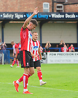 Lincoln City's Ellis Chapman celebrates scoring the opening goal<br /> <br /> Photographer Chris Vaughan/CameraSport<br /> <br /> Football Pre-Season Friendly (Community Festival of Lincolnshire) - Gainsborough Trinity v Lincoln City - Saturday 6th July 2019 - The Martin & Co Arena - Gainsborough<br /> <br /> World Copyright © 2018 CameraSport. All rights reserved. 43 Linden Ave. Countesthorpe. Leicester. England. LE8 5PG - Tel: +44 (0) 116 277 4147 - admin@camerasport.com - www.camerasport.com