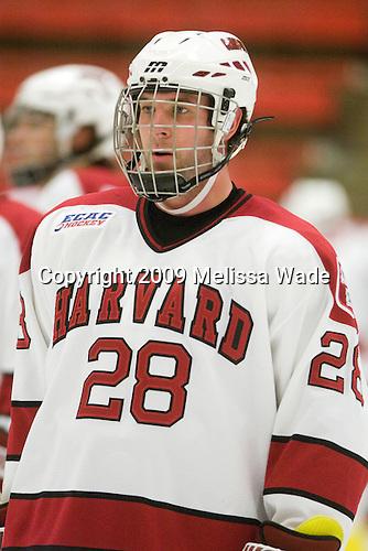 Chris Huxley (Harvard - 28) - The Dartmouth College Big Green defeated the Harvard University Crimson 6-2 on Sunday, November 29, 2009, at Bright Hockey Center in Cambridge, Massachusetts.