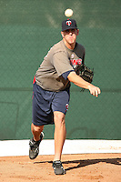 October 1, 2009:  Billy Bullock of the Minnesota Twins organization before an instructional league game at Lee County Sports Complex in Fort Myers, FL.  Photo By David Stoner/Four Seam Images