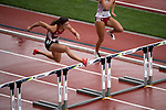 EUGENE, OR - JUNE 09: Leigh Brown of the University of Arkansas competes in the 100 meter hurdles as part of the Heptathlon during the Division I Women's Outdoor Track & Field Championship held at Hayward Field on June 9, 2017 in Eugene, Oregon. (Photo by Jamie Schwaberow/NCAA Photos via Getty Images)