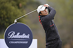 JEJU, SOUTH KOREA - APRIL 22:  Choi In-sik of Korea tees off on the 14th hole during the Round One of the Ballantine's Championship at Pinx Golf Club on April 22, 2010 in Jeju island, South Korea.  Photo by Victor Fraile / The Power of Sport Images