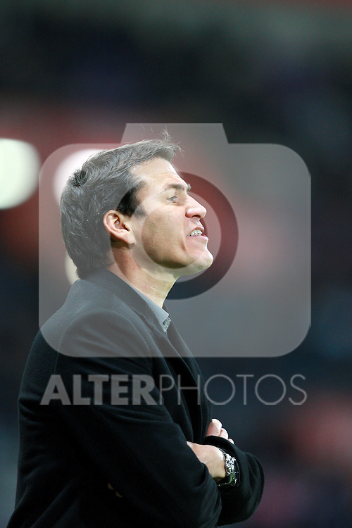 Lille coach Rudi Garcia watches from the sideline.  Toulouse v LOSC (Lille), Ligue 1, Stade Municipal, Toulouse, France, 18th November 2011.