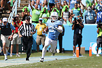 19 September 2015: UNC's Ryan Switzer runs back a punt return 71 yards. The University of North Carolina Tar Heels hosted the University of Illinois Fighting Illini at Kenan Memorial Stadium in Chapel Hill, North Carolina in a 2015 NCAA Division I College Football game. UNC won the game 48-14.