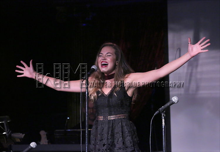 Solea Pfeiffer performing at The Lilly Awards Broadway Cabaret at the Cutting Room on October 17, 2016 in New York City.